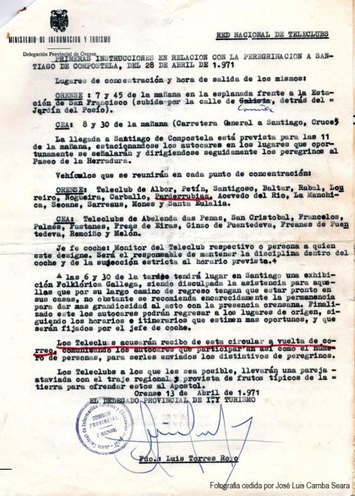 Documento 5. Peregrinación a Santiago de Compostela 1