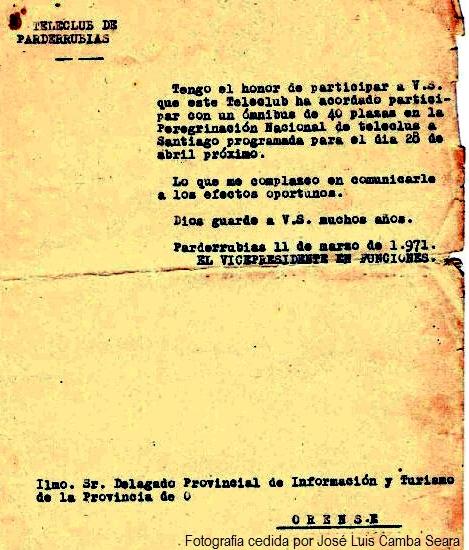 Documento 6. Peregrinación a Santiago de Compostela 2