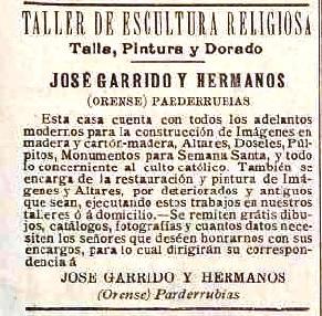 Anuncio Os Escultores 1910