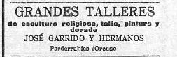 Anuncio Os Escultores 1913